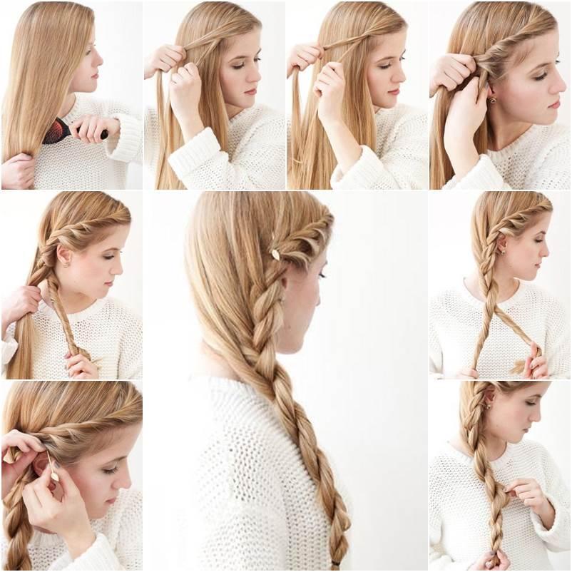 Diy Braided Hairstyles: How To DIY Simple Side Braid Hairstyle