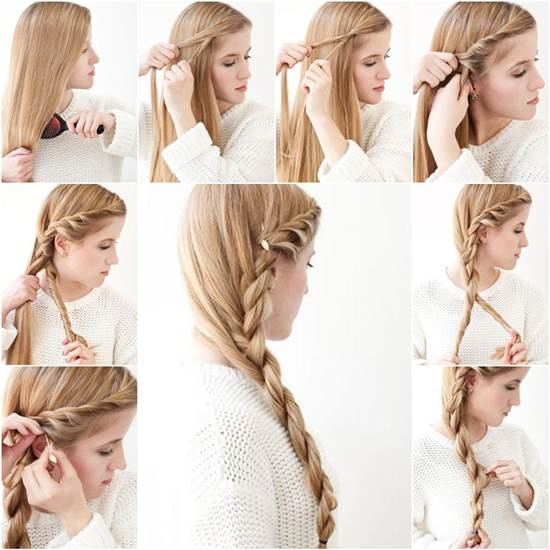 Simple Diy Hairstyles Everyday: How To DIY Simple Side Braid Hairstyle