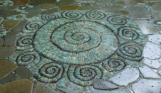 How To Diy Spiral Mosaic Stone Garden Path 1