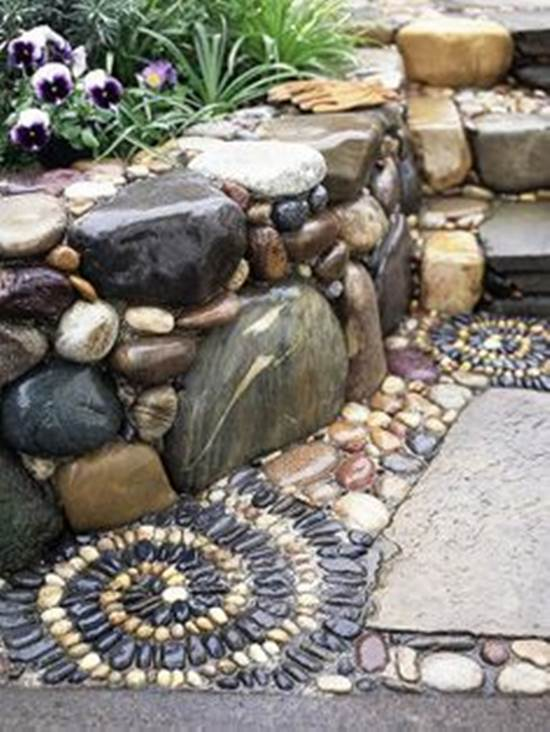 How To Diy Spiral Mosaic Stone Garden Path