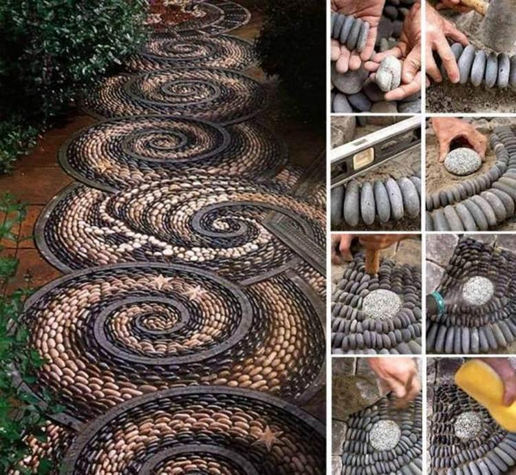 how to make garden path stones
