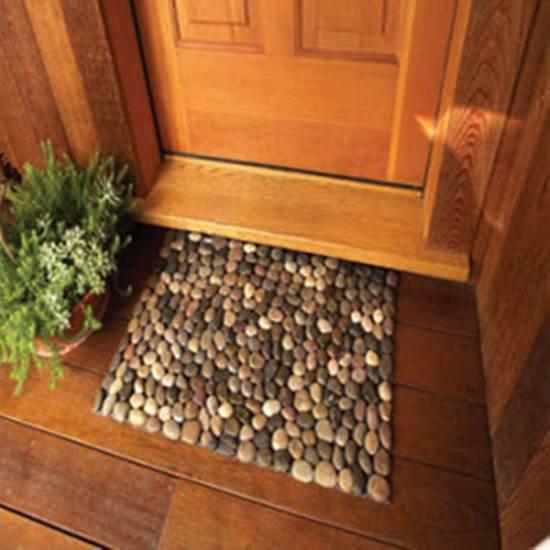 How to DIY Stone Floor Mat --> DIY Rocks Doormat