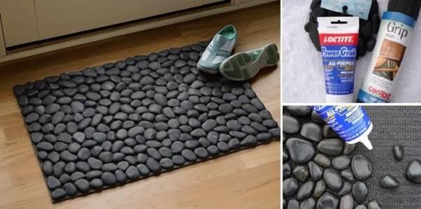 How To Diy Stone Floor Mat
