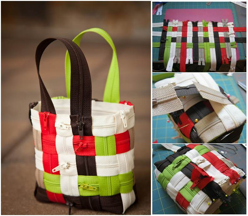How to DIY Stylish Woven Zipper Tote Bag