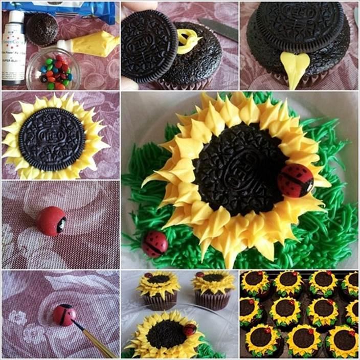 How to DIY Sunny Oreo Sunflower Cupcakes