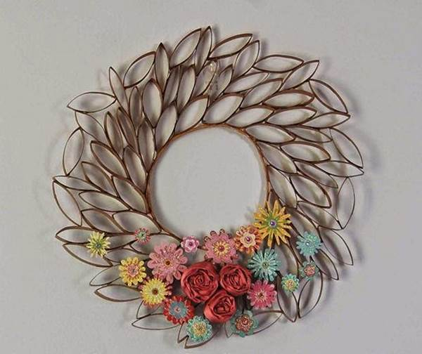 How To Diy Toilet Paper Roll Flower Wall Art