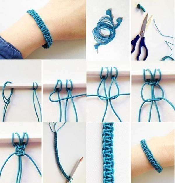 How to DIY Weave a Bracelet from Old Headphones