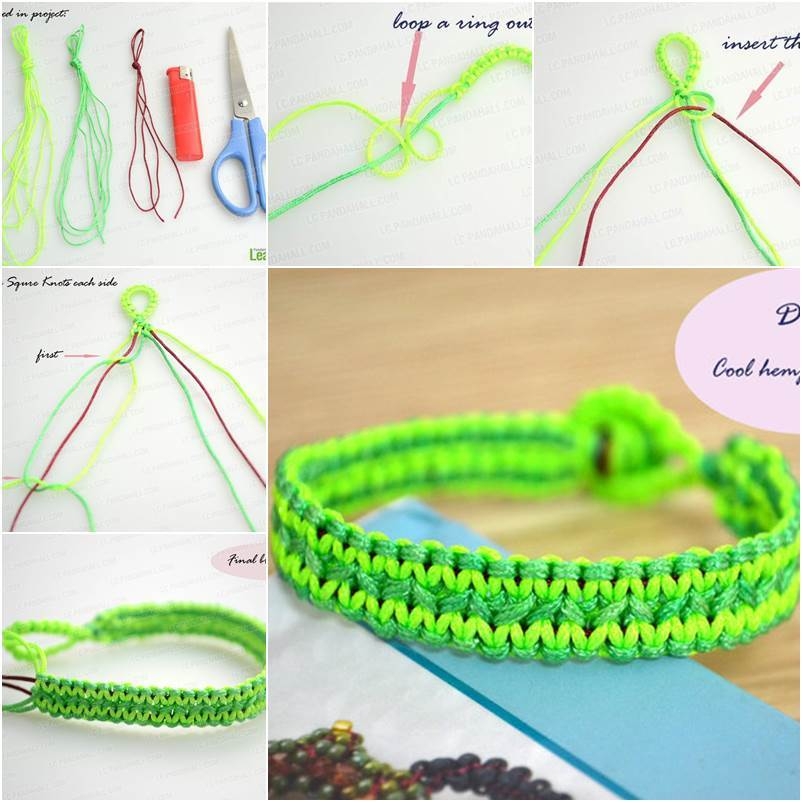 How to Make a Stylish DIY Knotted Summer Bracelet