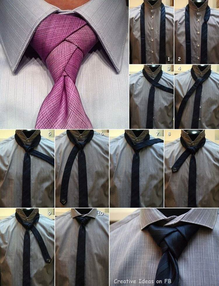 How to tie a beautiful necktie knot diy tutorial for Nudos de corbata modernos