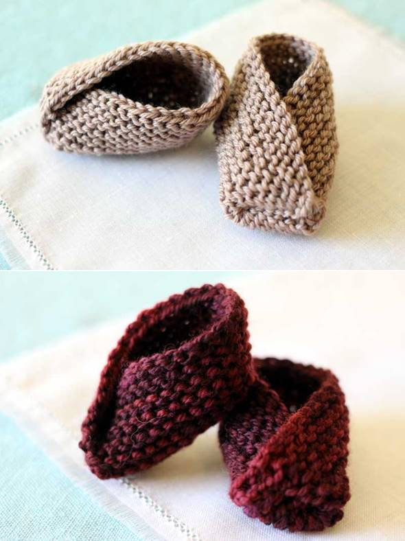 DIY Adorable Knitted Kimono Baby Booties