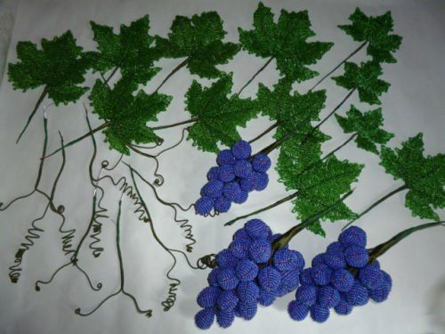 DIY Beautiful Beaded Grape Vine 8