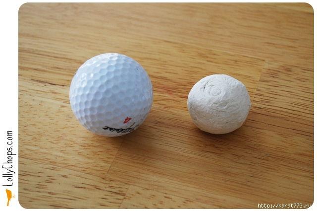 DIY Beautiful Tissue Paper Flower Using a Golf Ball 1