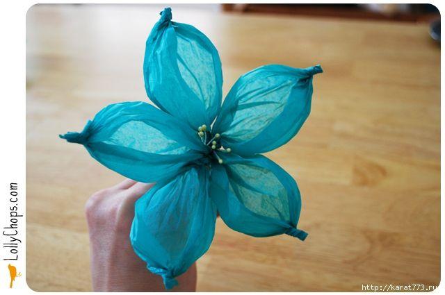 DIY Beautiful Tissue Paper Flower Using a Golf Ball 8