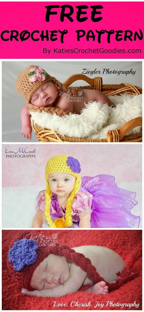 DIY Crochet Rapunzel Hat with Long Braids --> Rapunzel Crochet Hat Pattern