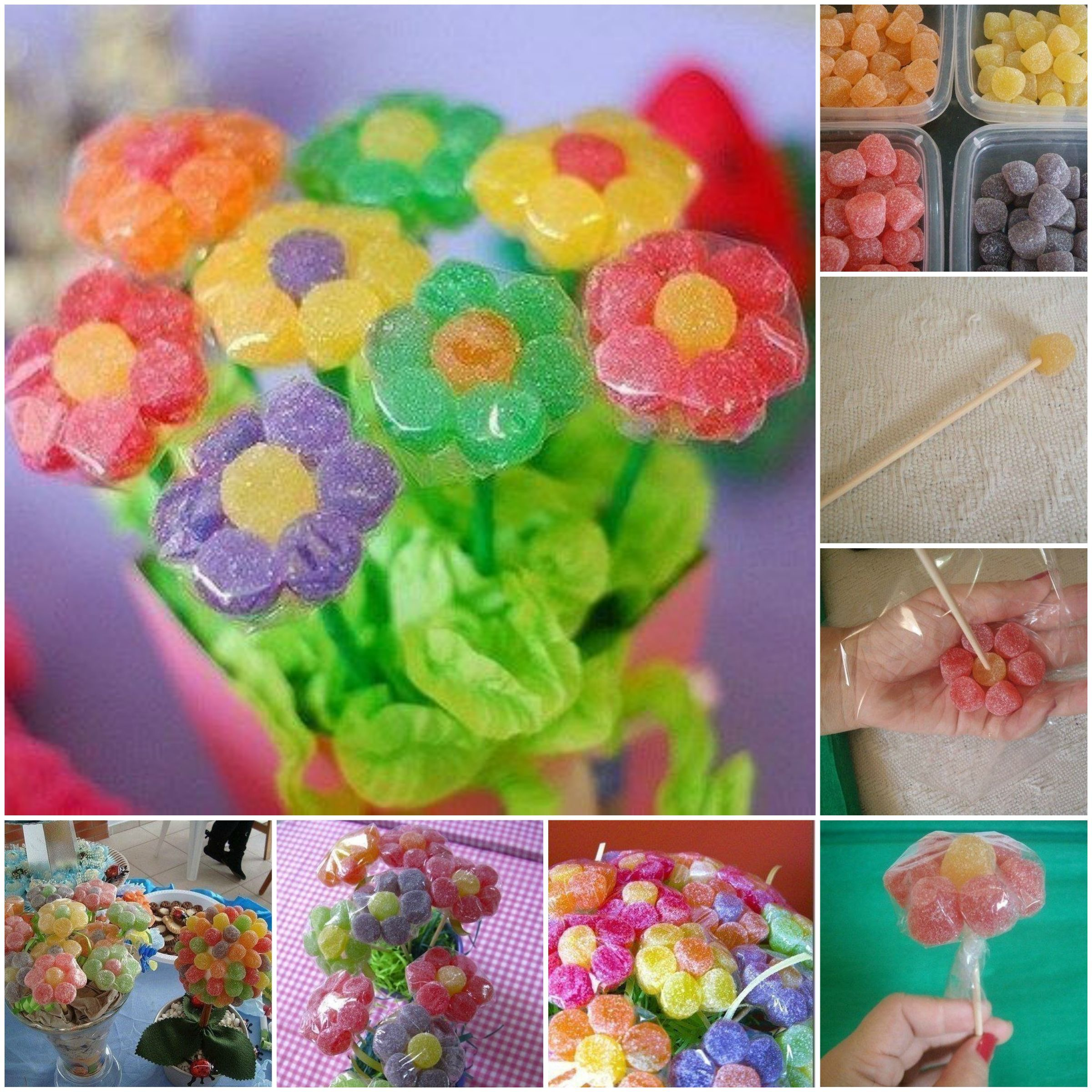 Diy gummy candy flowers izmirmasajfo