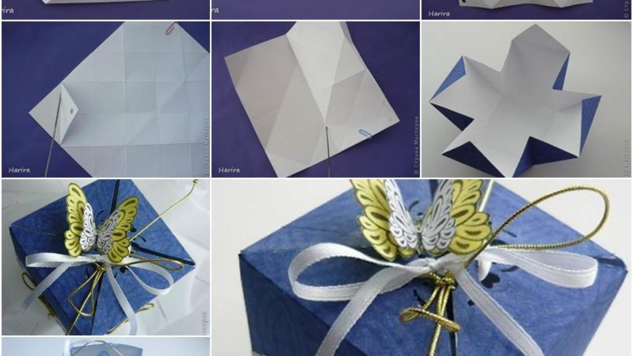 Origami Hinged Prism Gift Box Diagram | Origami box easy, Origami ... | 720x1280