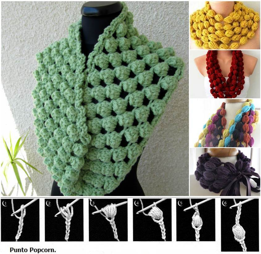 Diy Stylish Crochet Puff Ball Scarf