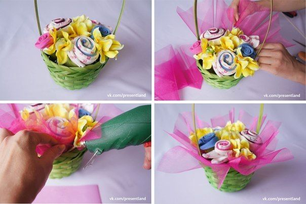 How to diy baby clothes flower bouquet how to diy baby clothes flower bouquet 6 negle Gallery