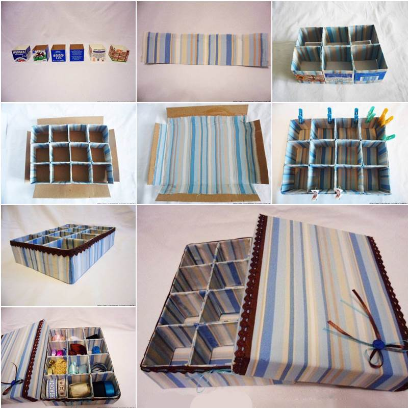 How to DIY Cardboard Storage Box with Dividers & DIY Cardboard Underwear Storage Box