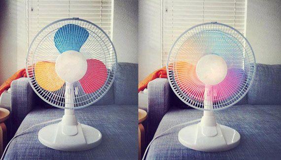 How to DIY Creative Rainbow Fan 6