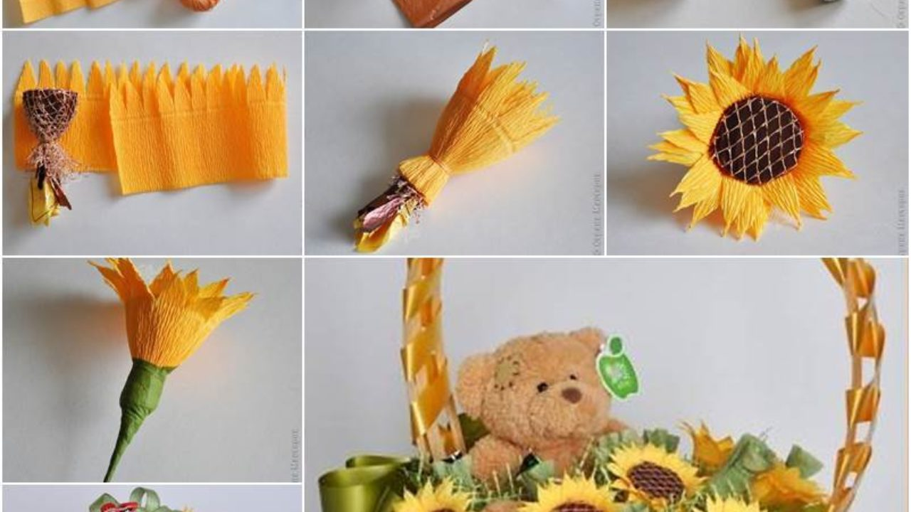 How to Make an Easy Origami Paper Sunflower with Instructions | 720x1280