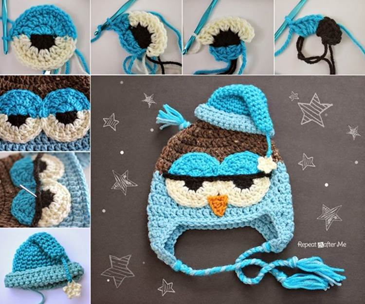 How to DIY Cute Crochet Owl Hat