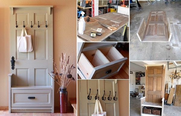How to DIY Entry Bench from Old Doors