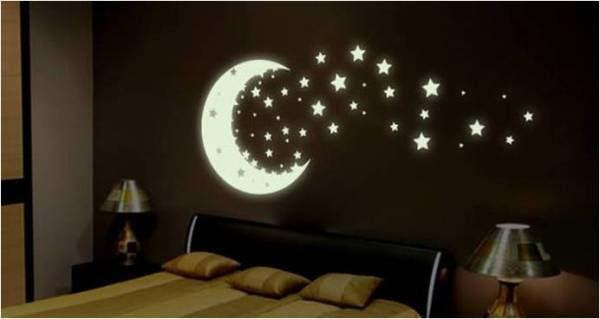 How To DIY Glow In The Dark Paint Wall Murals Part 14