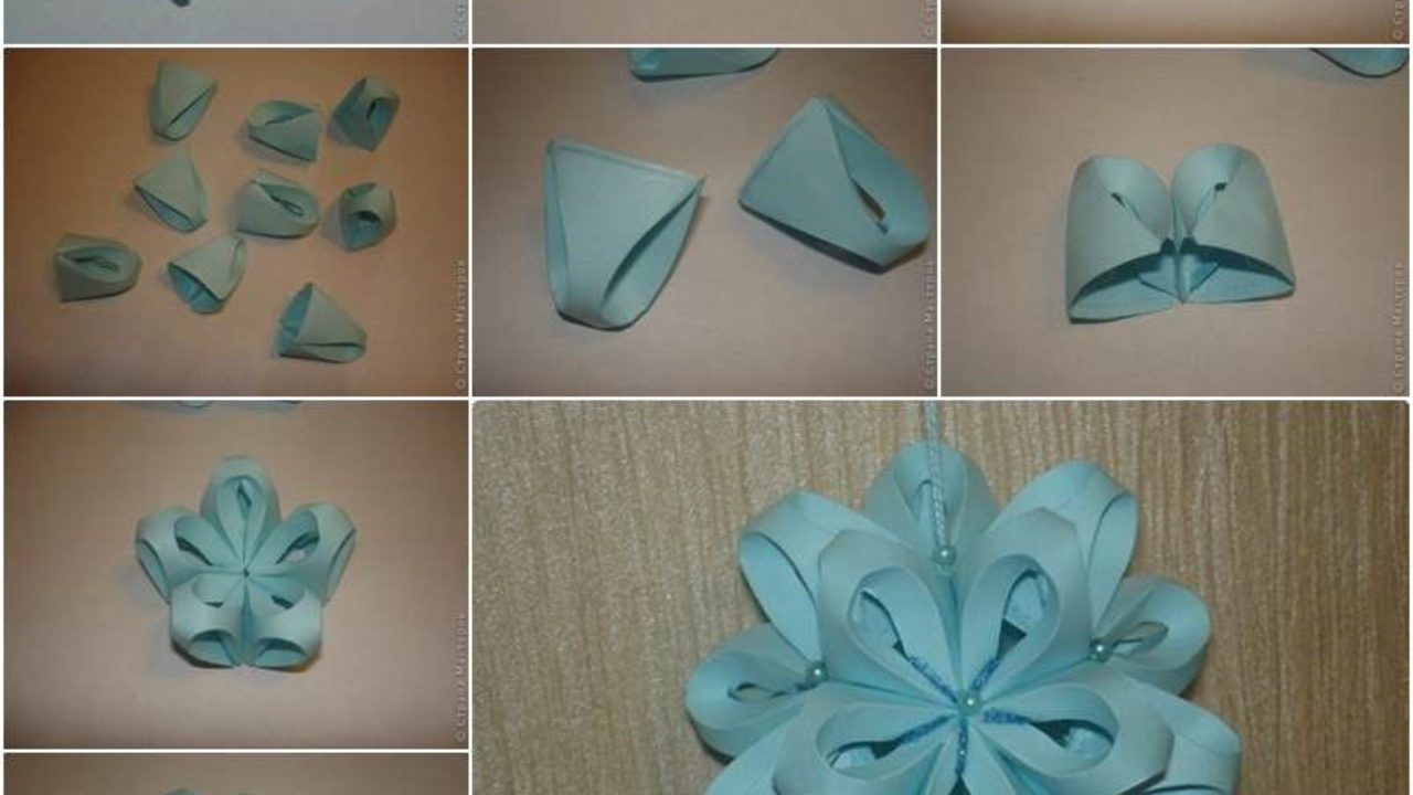 How to DIY Origami Paper Flower Ball Decor