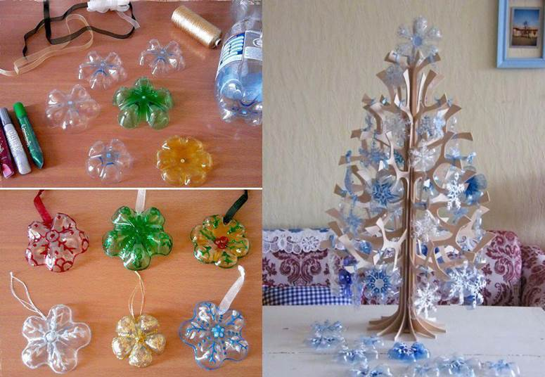 How To DIY Snowflake Ornaments From Plastic Bottles Best Plastic Bottle Decorations