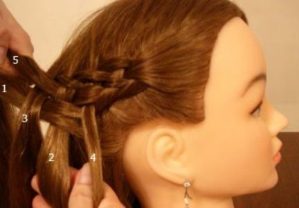 How To Weave Five Strand Diagonal French Braid Hairstyle