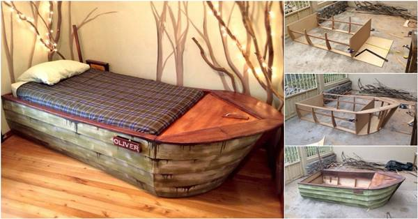 Creative Ideas Diy Cool Boat Bed