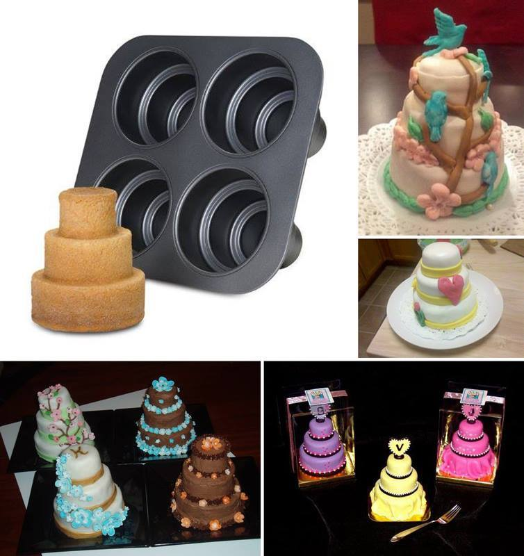 Creative Ideas MiniWedding Cake Pan - Mini Wedding Cake Mold