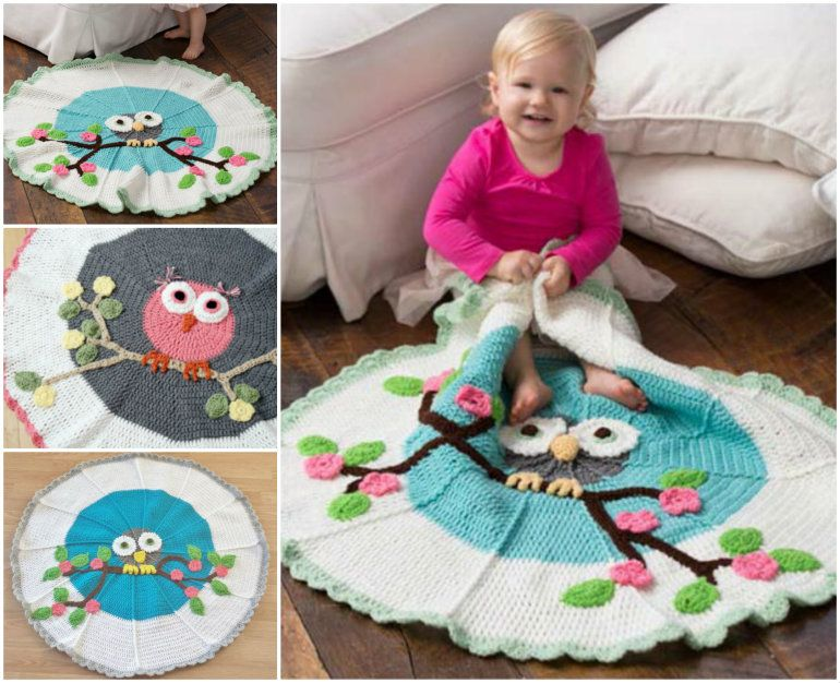 Creative Ideas - DIY Adorable Owl Crochet Baby Blanket