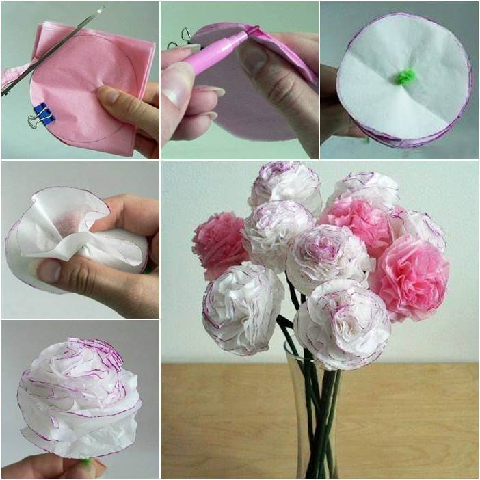 Creative ideas diy beautiful tissue paper flowers mightylinksfo
