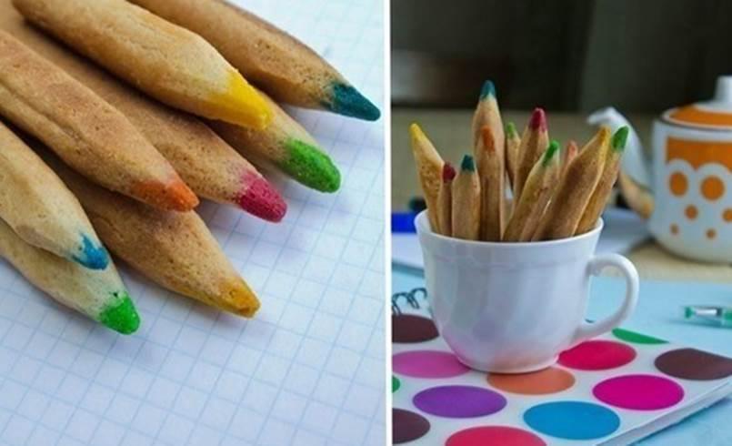 Creative Ideas - DIY Colored Pencil Cookies