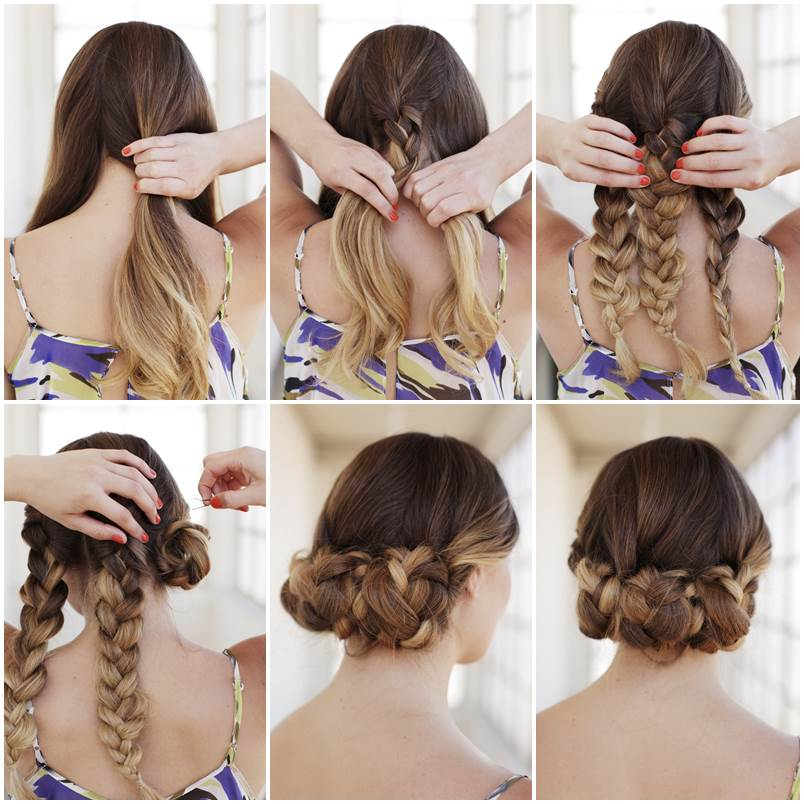 Creative Ideas  DIY Easy Braided Updo Hairstyle - Bridesmaid Hairstyles