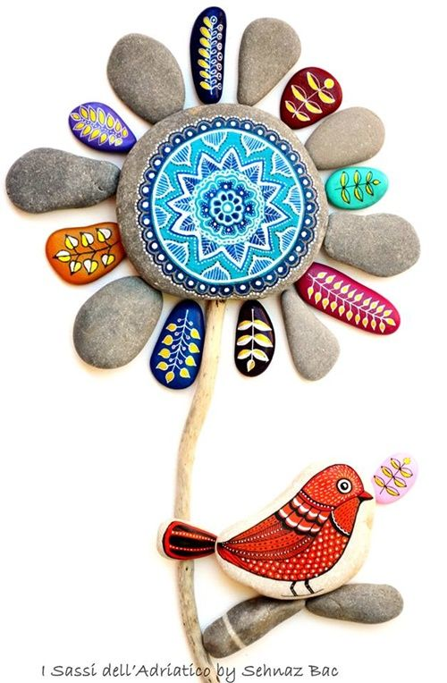 Beautiful Painted Stones and Pebbles