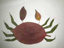 Creative Leaf Animal Art - Leaf Crab