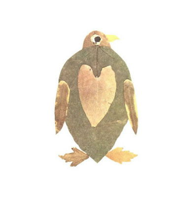 Creative Leaf Animal Art - Leaf Penguin
