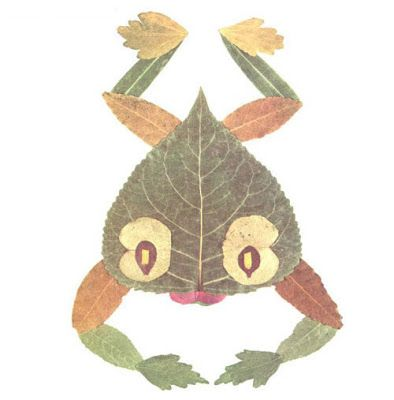 Creative Leaf Animal Art - Leaf Frog