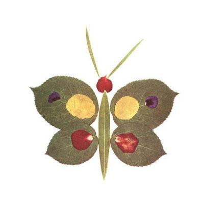 Creative Leaf Animal Art - Leaf Butterfly