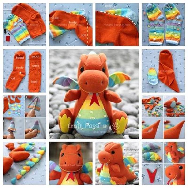 DIY Adorable Sock Dragon