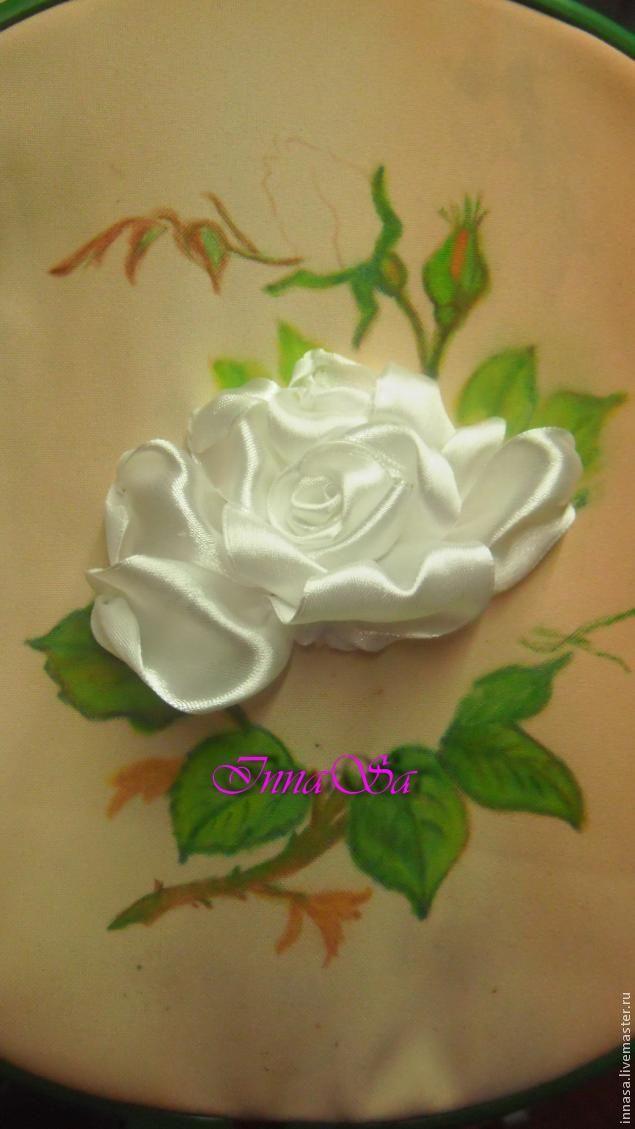 Diy Beautiful Embroidery Satin Ribbon Roses