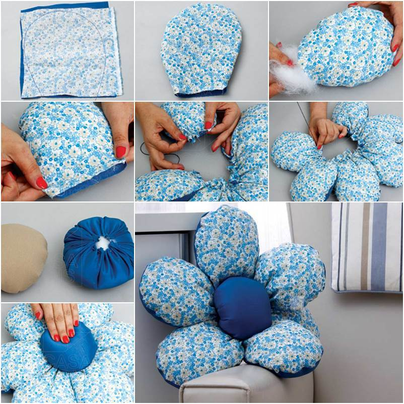 DIY Beautiful Flower Cushion