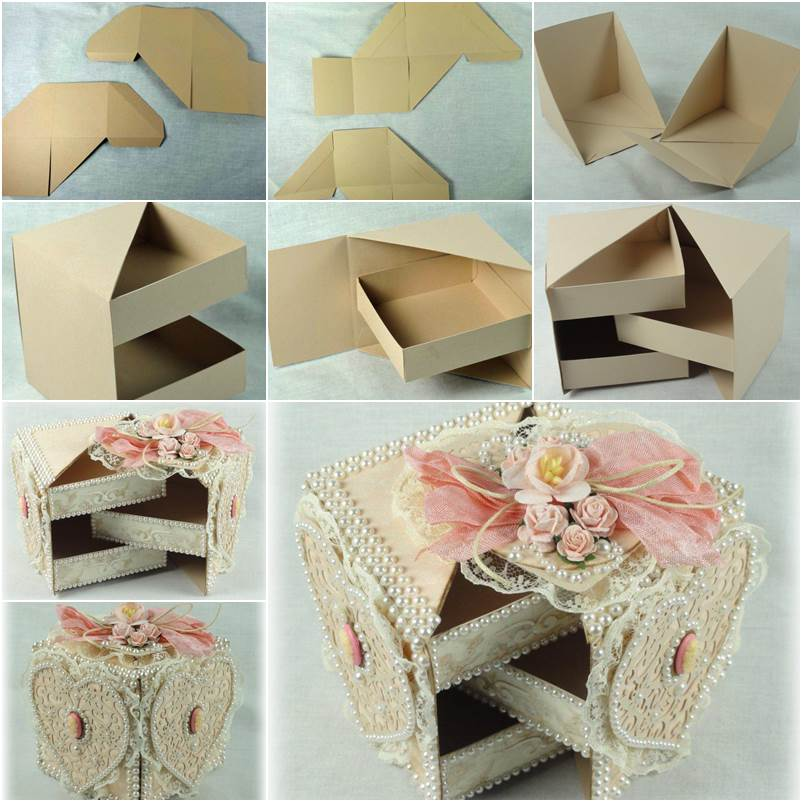 Diy beautiful gift box with hidden drawers negle Images
