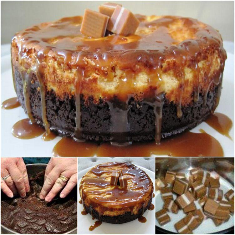 DIY Delicious Jersey Caramel Cheesecake