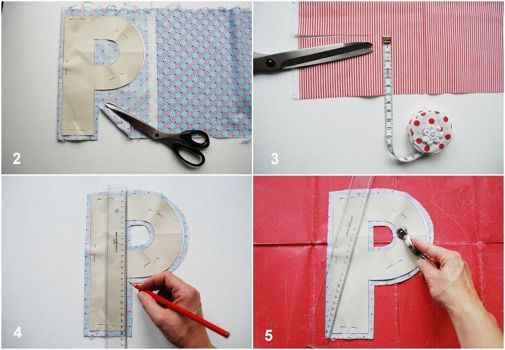 DIY Fabric Alphabet Letter Cushion 2