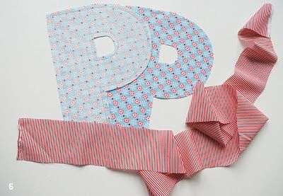 DIY Fabric Alphabet Letter Cushion 3