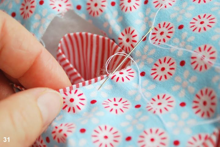 DIY Fabric Alphabet Letter Cushion 8